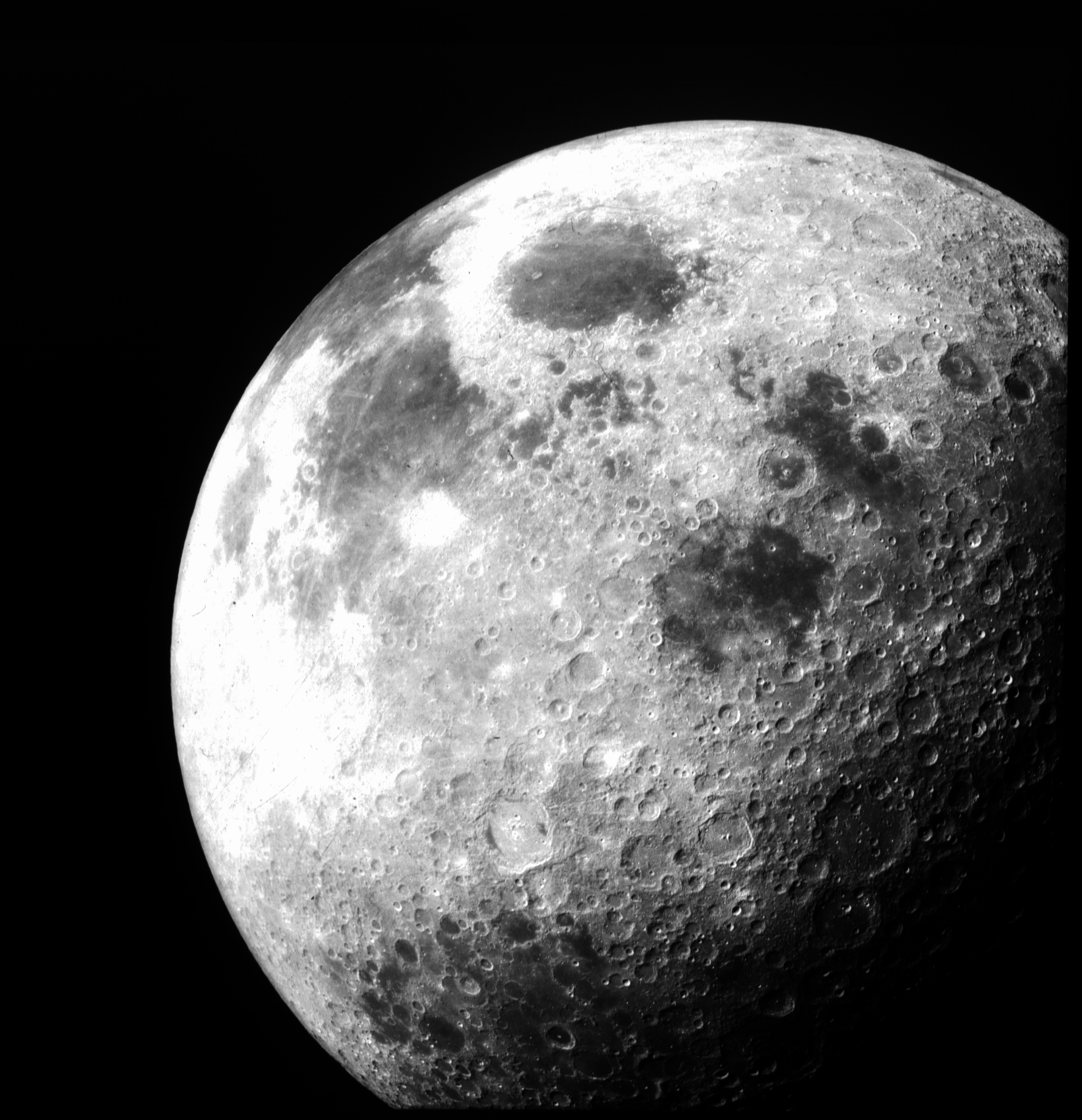 The moon as seen from Apollo 12