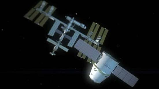 SpaceX depicts its Dragon spaceship's space station flight in this animation.
