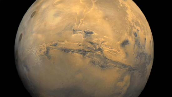 Valles Marineris, Giant Canyon on Mars