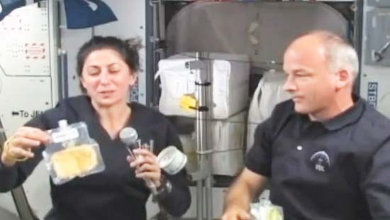 Astronauts Celebrate Thanksgiving in Space