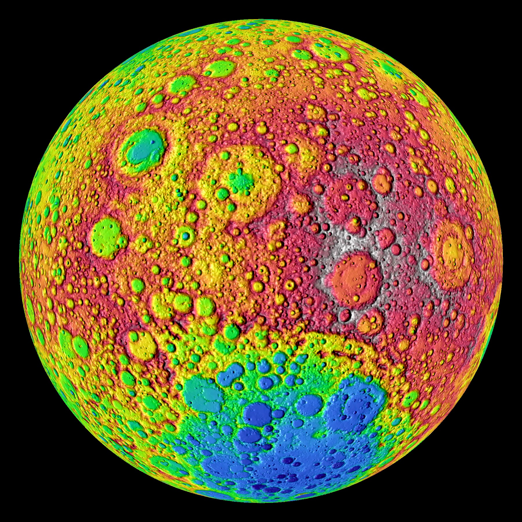 Mapping the Lunar Topography