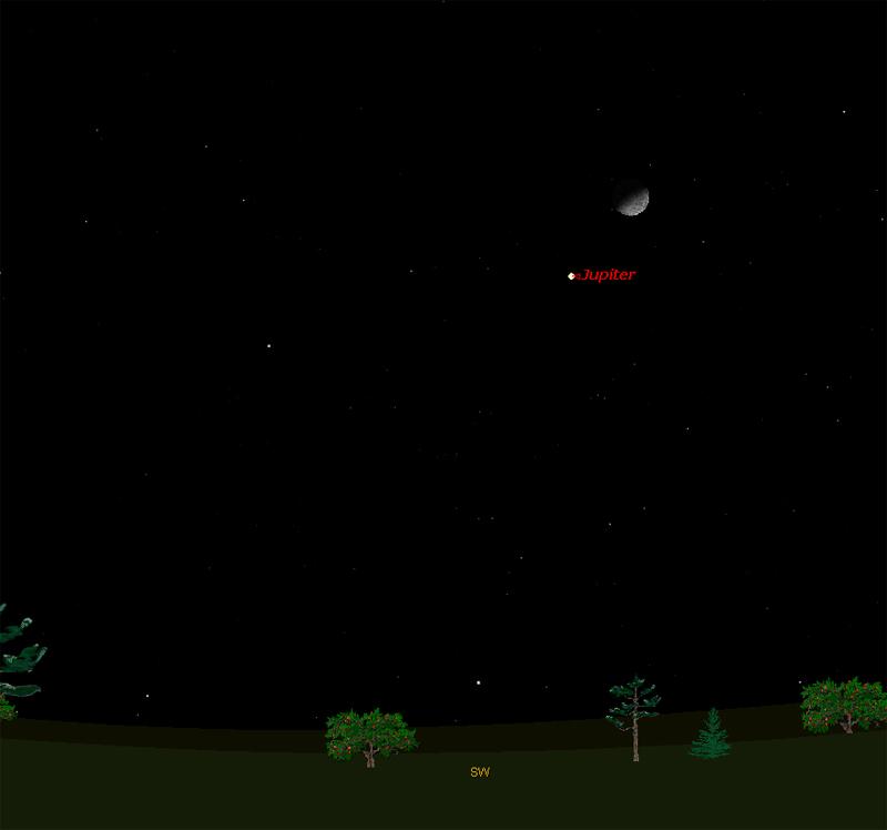 moon viewing jupiter tonight - photo #11