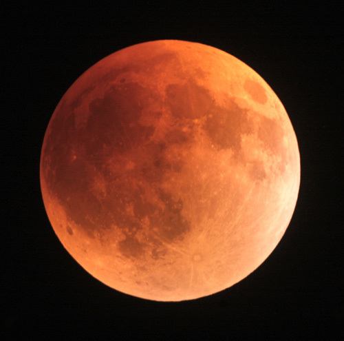 The lunar eclipse of August 28, 2007, was visible from Wrightwood, CA.
