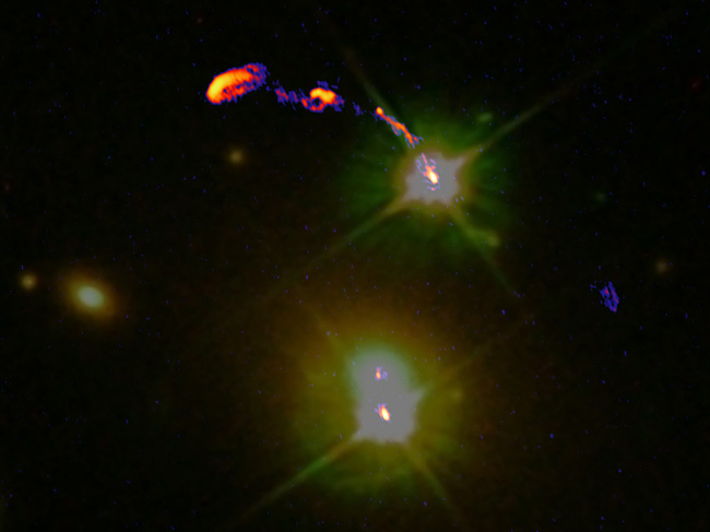 Black Hole Spews Jets in New Telescope's First Image