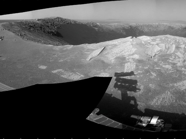 Mars Rover to Celebrate New Year's Eve at Big Crater