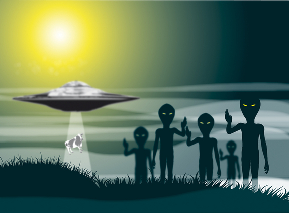 Aliens with UFO