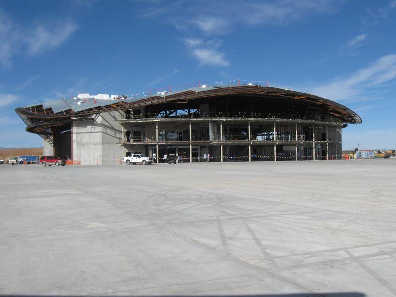 Spaceport America Terminal Building Under Construction