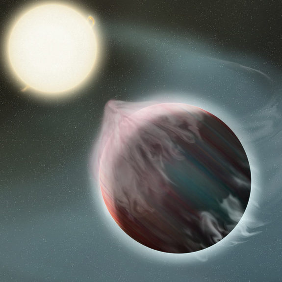Alien Planet Speeds Up Parent Star