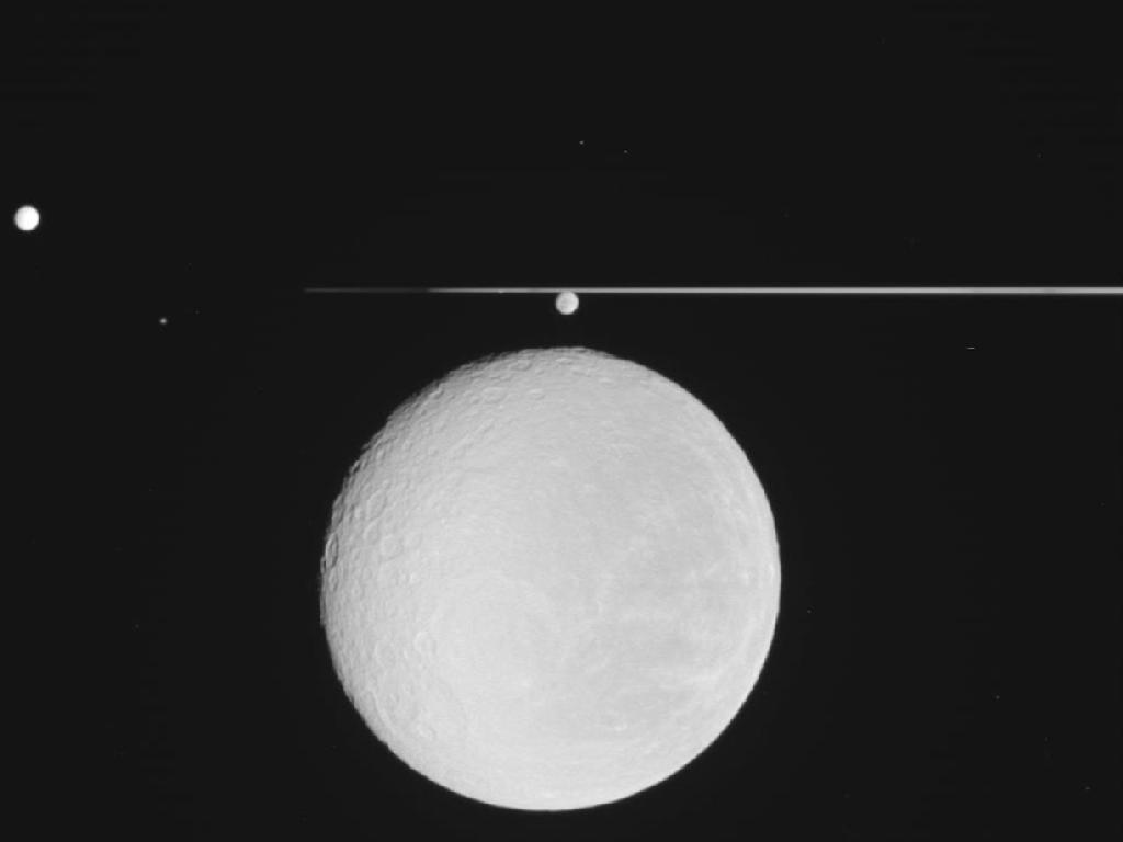 Saturn Moon Rhea Full View
