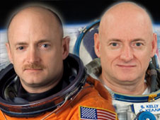 Astronauts Mark Kelly, STS-134 Commander, and Scott Kelly, Expedition 26 Commander.