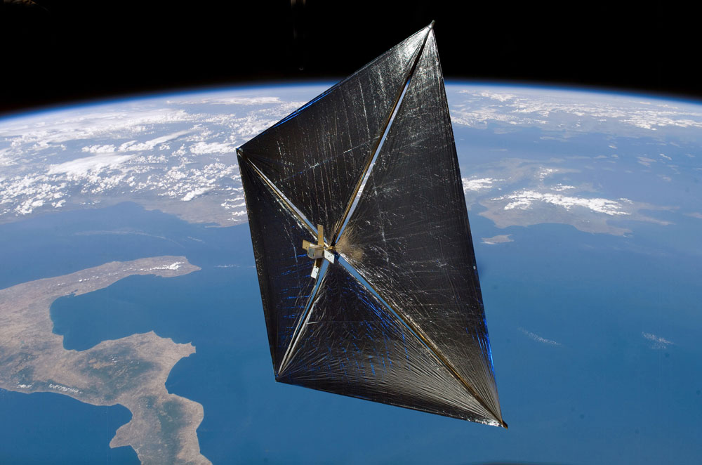 NASA Solar Sail Finally Flying Free Above Earth