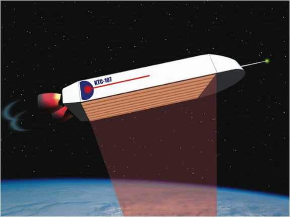 Laser propelled spacecraft would be small, simple and expendable with the complicated launch system on the ground.