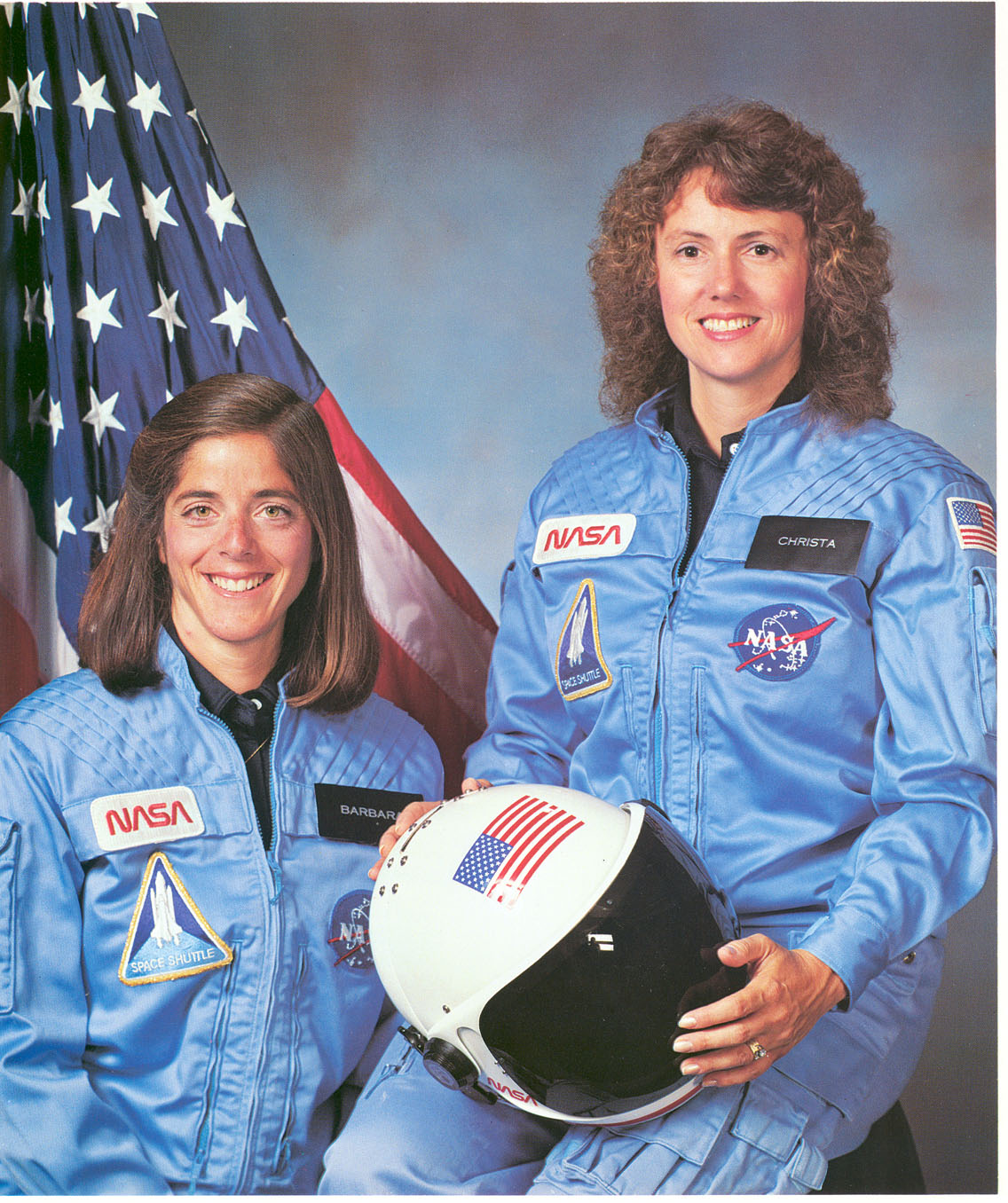 Christa McAuliffe and Barbara Morgan