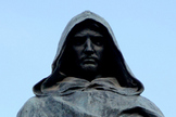 A bronze statue of Giordano Bruno stands in the Campo de' Fiori in Rome, where he was executed in 1600