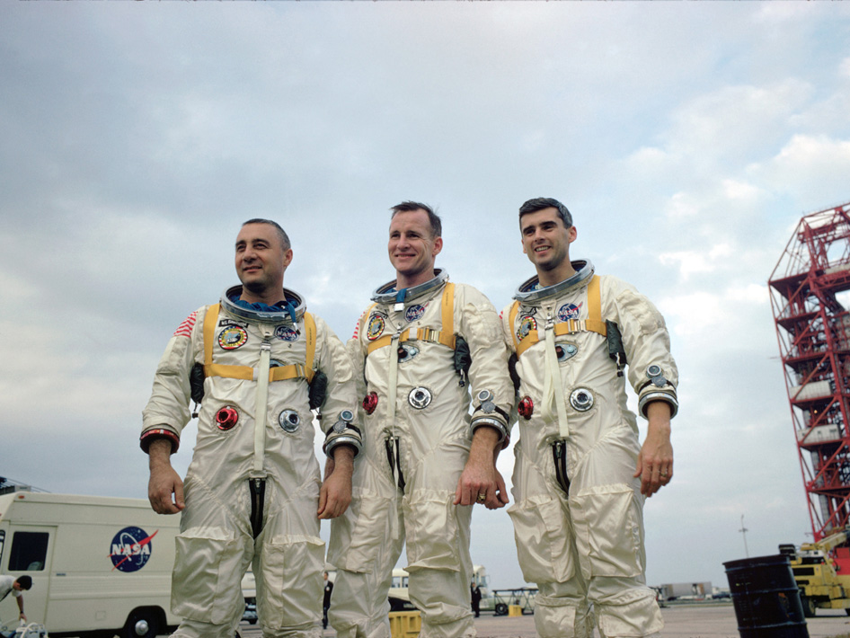 "On Jan. 27, 1967, Apollo 1's crew—Virgil I. ""Gus"" Grissom, Edward H. White II and Roger B. Chaffee—was killed when a fire erupted in their capsule during testing."