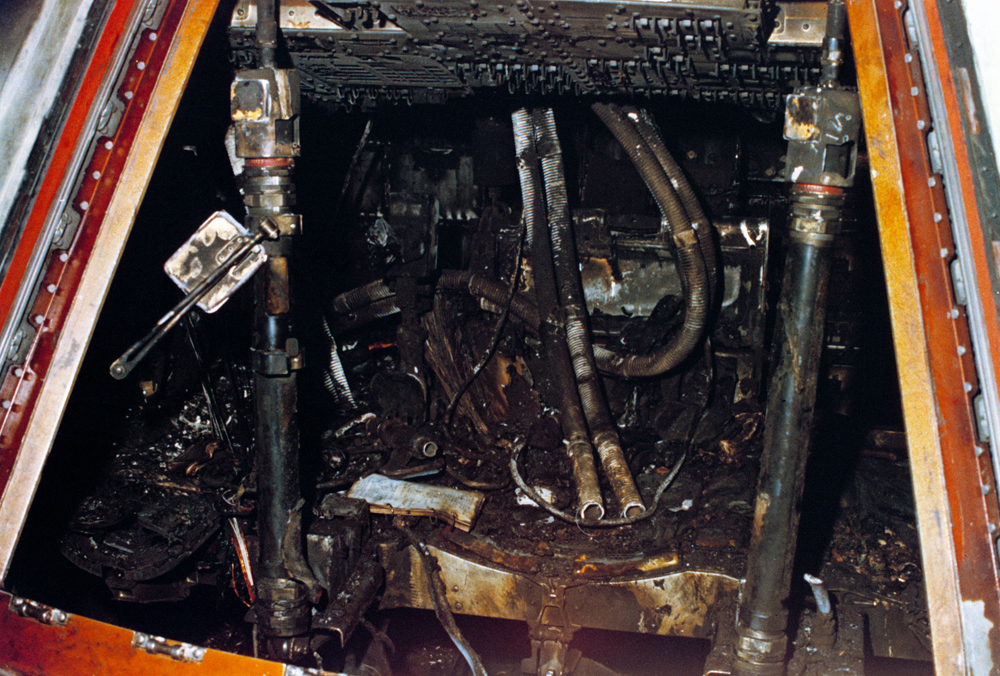 The Interior of the Capsule After the Tragic Fire