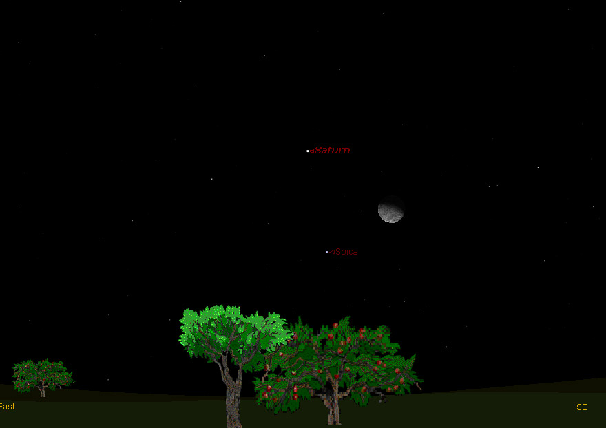 Look Up: Moon, Saturn and Star to Form Sky Triangle
