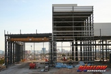 New construction is under way at Bigelow Aerospace in North Las Vegas, a building to crank out expandable habitats.