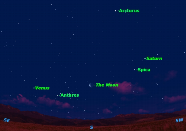 Moon, Stars and Planets Offer Pre-Dawn Sky Show