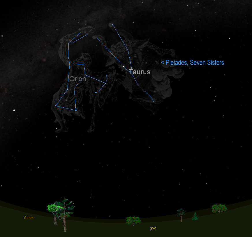 Hunting Star Clusters? Orion and Bull Constellations Point ...