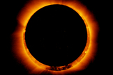 On Jan. 4, 2011, the moon passed in front of the sun in a partial solar eclipse - as seen from parts of Earth. Here, the joint Japanese-American Hinode satellite captured the same breathtaking event from space. The unique view created what's called an annular solar eclipse.