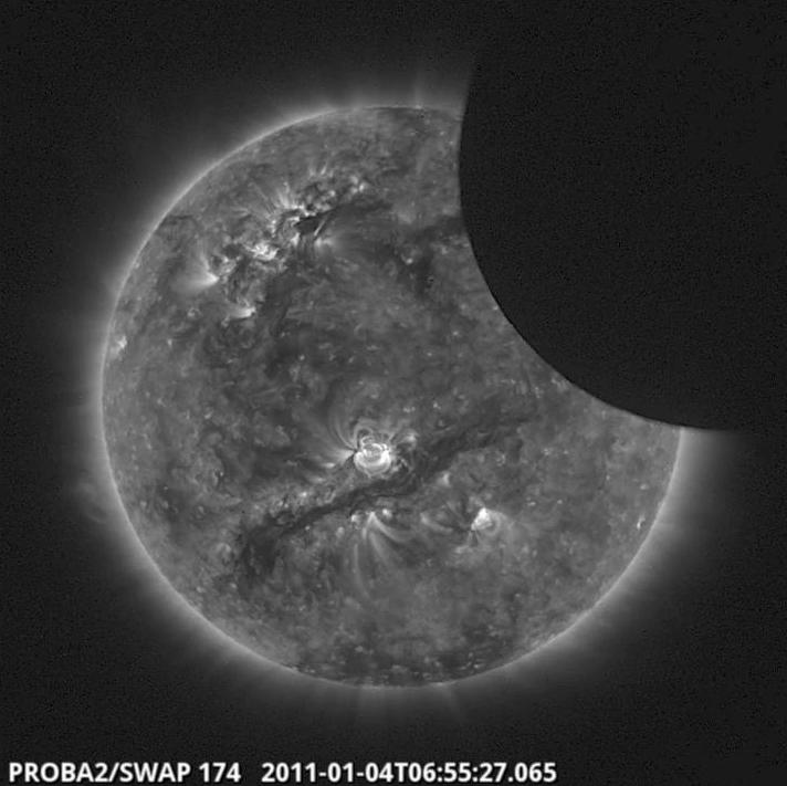 Proba-2 Satellite - Solar Eclipse