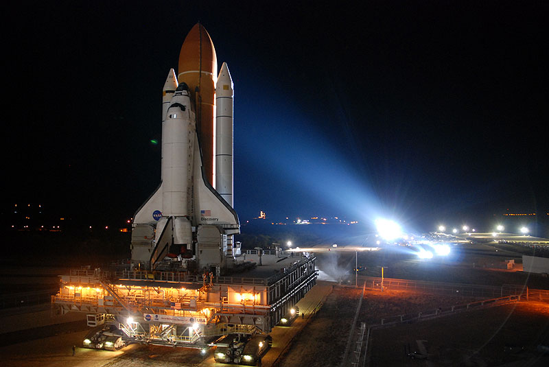 Shuttle Discovery's Final Launch Pad Rollout