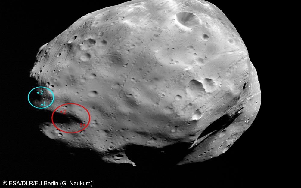 Phobos-Grunt Landing Sites