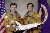 John Young and Bob Crippen flew on the Shuttle program's maiden flight in 1981.
