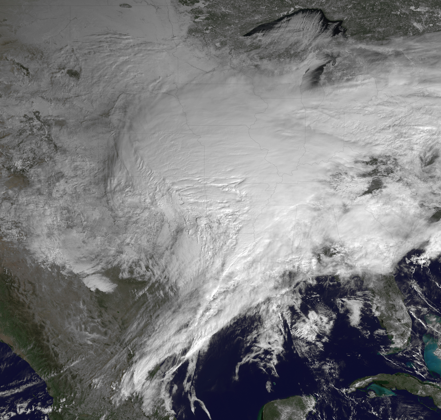 Satellite Photos Reveal Massive Storm Across 30 U.S. States