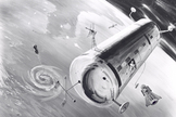 A 1960 concept image of the US Air Force's proposed Manned Orbiting Laboratory. The station's configuration was that of a two-person Gemini B spacecraft that could be attached to a laboratory vehicle.  The program was cancelled by Defence Secretary Melvin R. Laird in 1969 after the estimated cost of the program had risen in excess of billion, and had already spent .3 billion. Some of the military astronauts selected for the program then transferred to NASA and became some of the first people to fly the Space Shuttle.