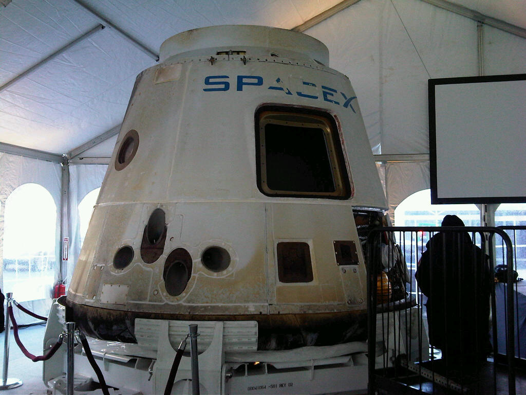 Space-flown Dragon Space Capsule