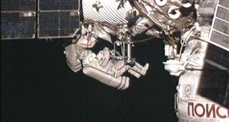 Spacewalkers Equip Space Station to Track Earthquakes and Lightning