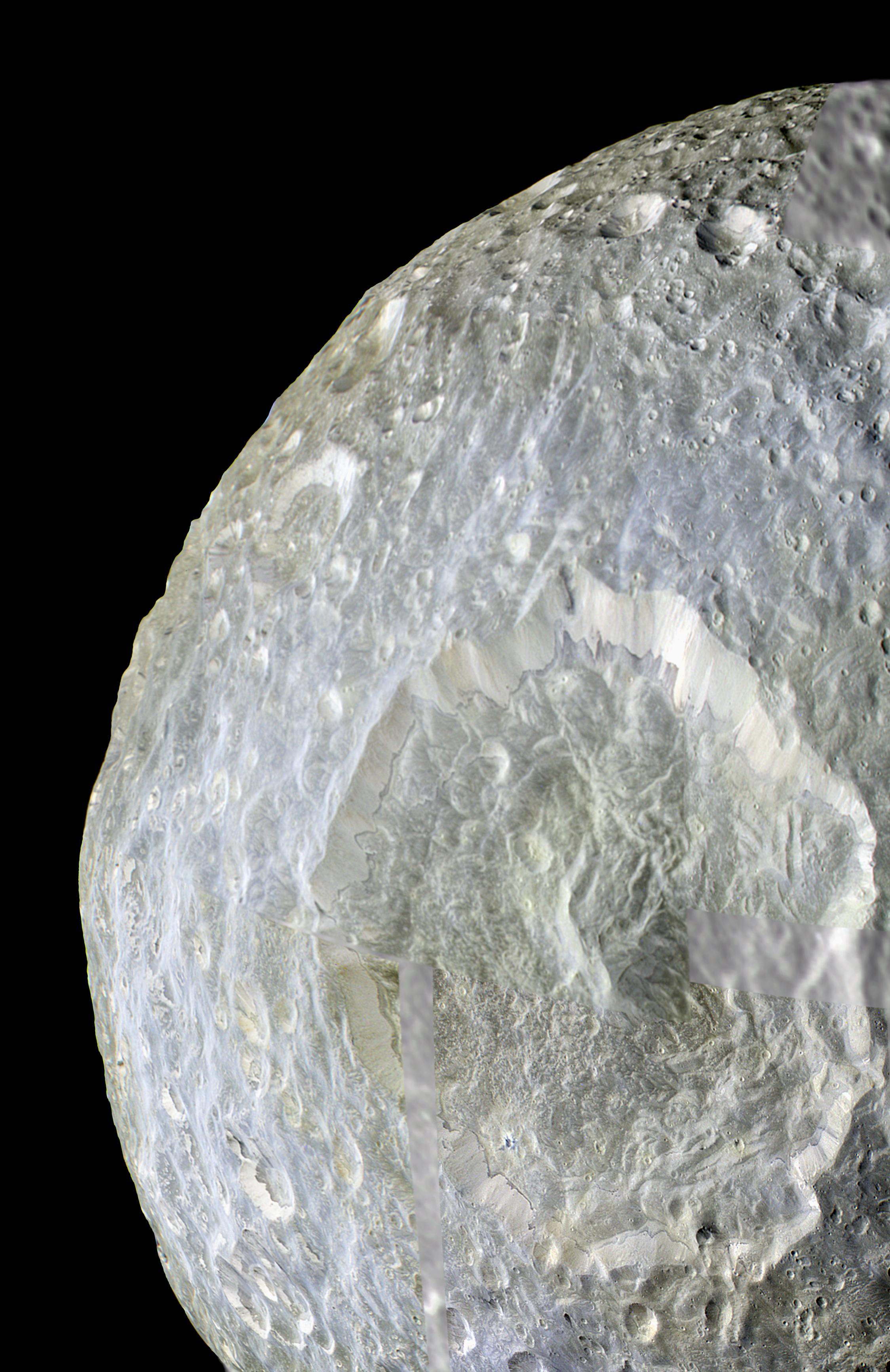 Mimas' Color Near Herschel Crater
