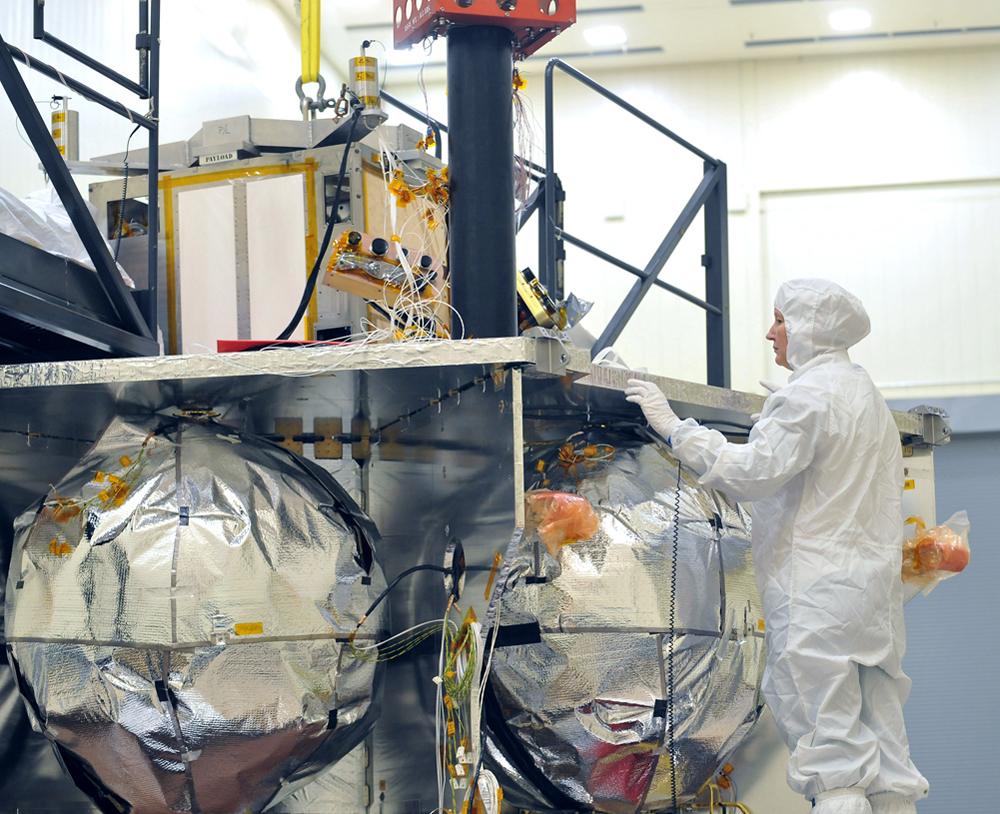 Technician Inspects Juno's Vault