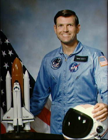 The official portrait of astronaut Michael L. Coats for the space shuttle Discovery's STS-41D mission.