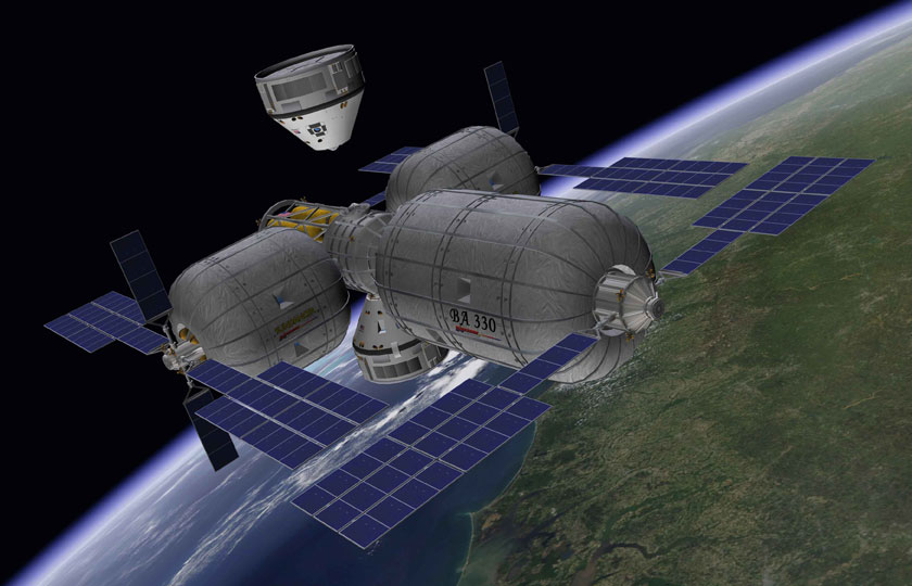 Boeing CST-100 Approaching Bigelow Space Station