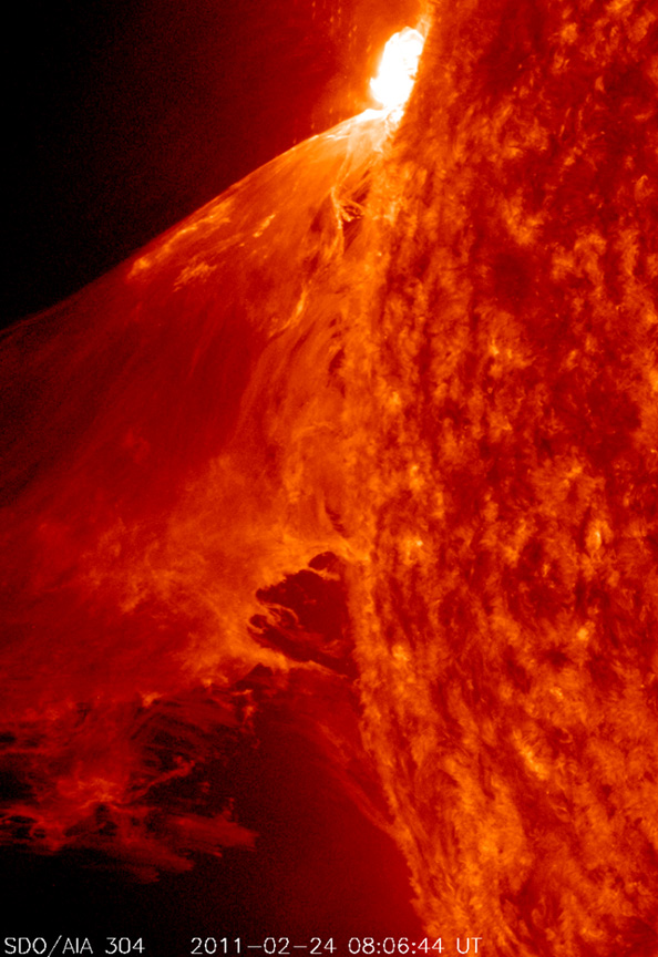 'Monster' Solar Storm Erupts On the Sun
