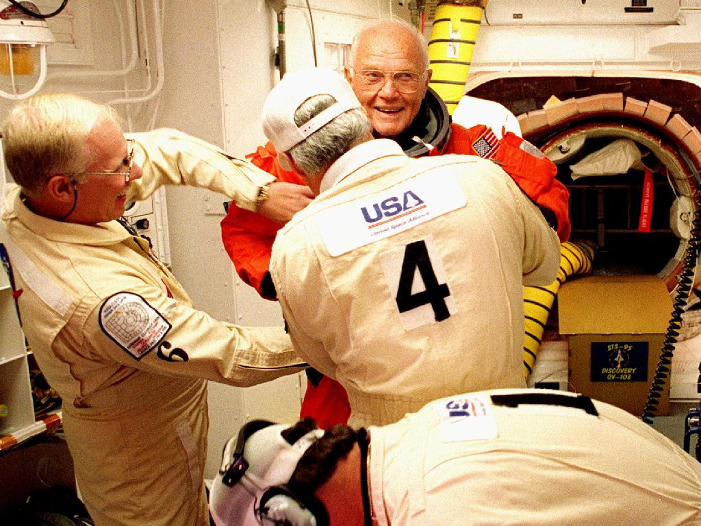 Discovery Launched John Glenn Back Into Orbit