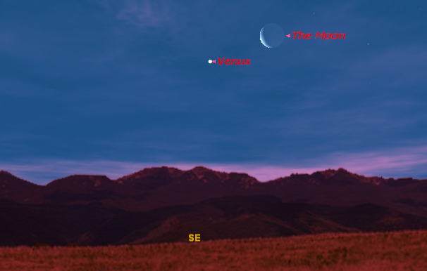 Venus and the Moon Offer Early-Bird Skywatching Treat