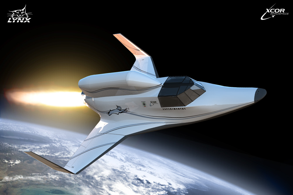 XCOR Aerospace Lynx Spacecraft With Payload