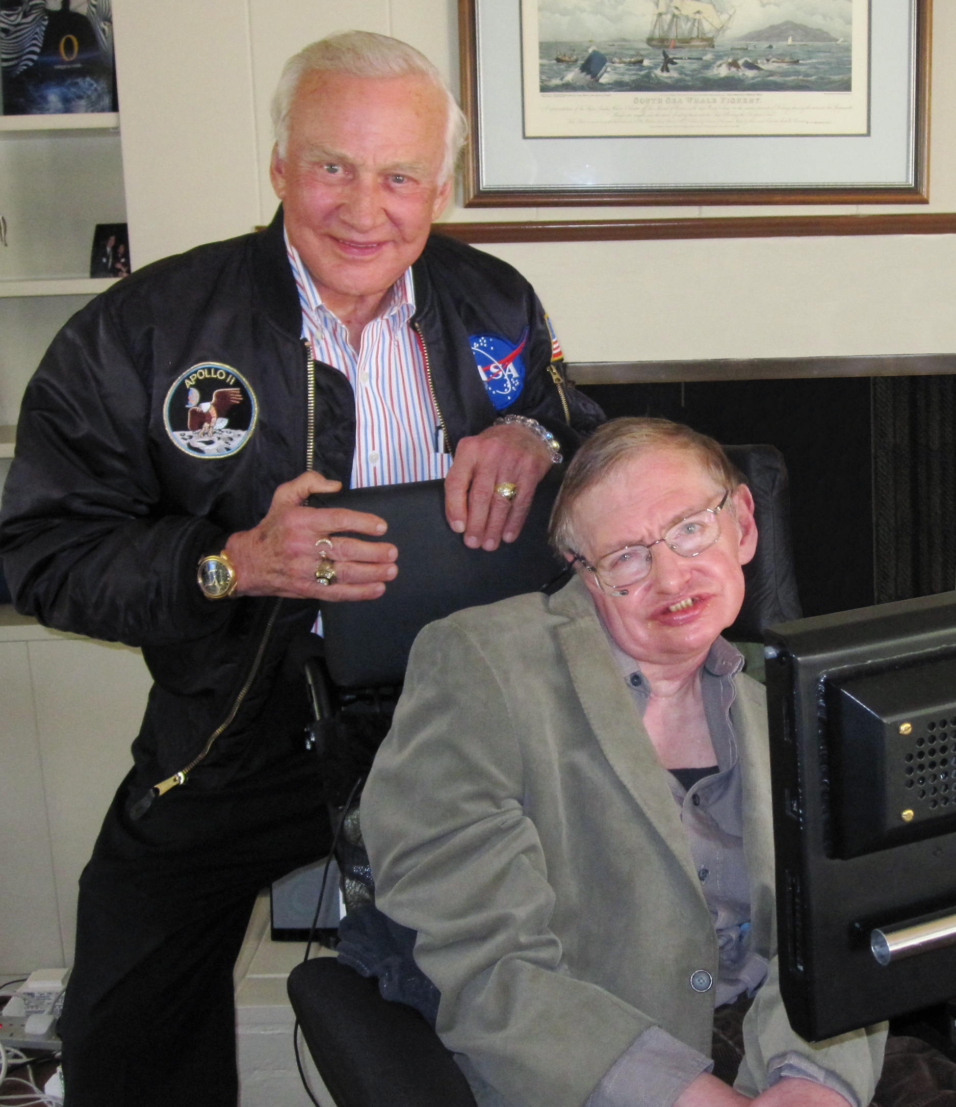 Buzz Aldrin and Stephen Hawking team up