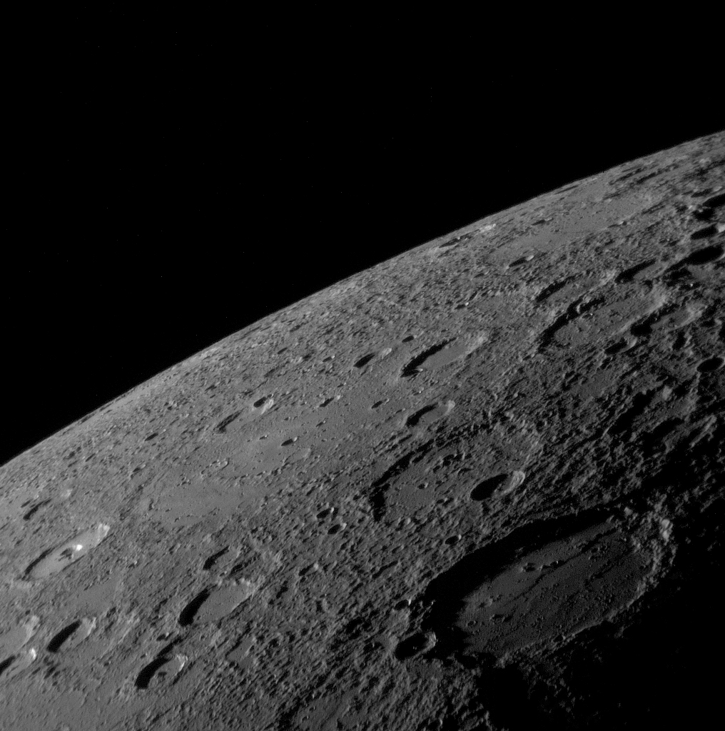 Mercury's Horizon and Craters