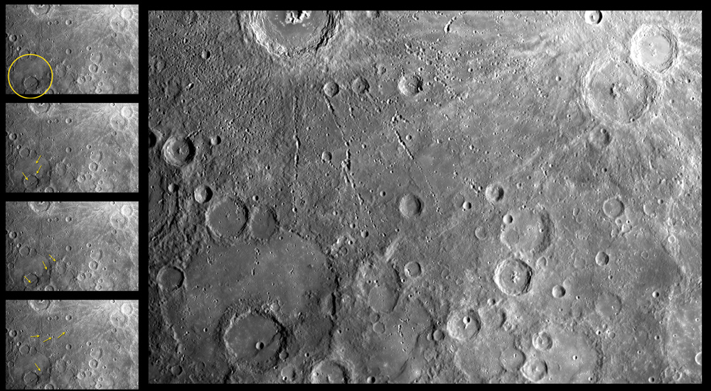Mercury's Pock-marked Surface