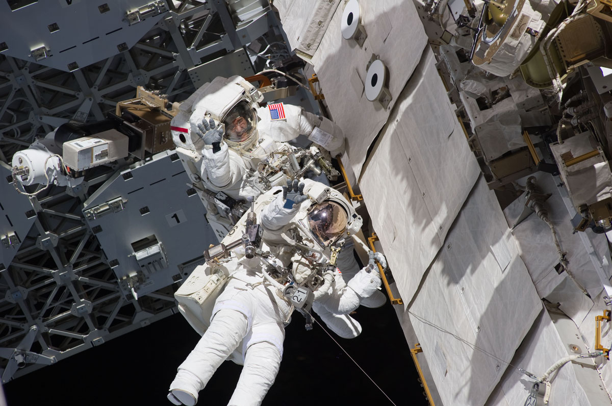 Spacewalking With a Smile