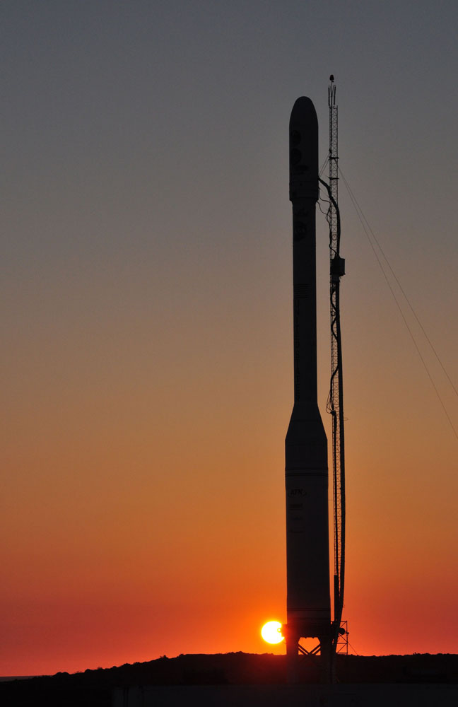 Glory Satellite's Rocket Sunset