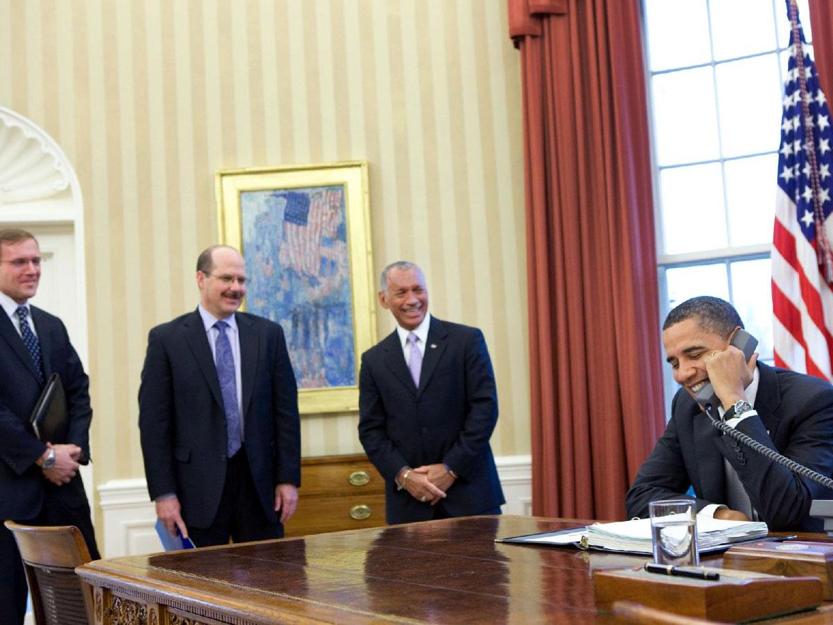 President Obama Makes a Call