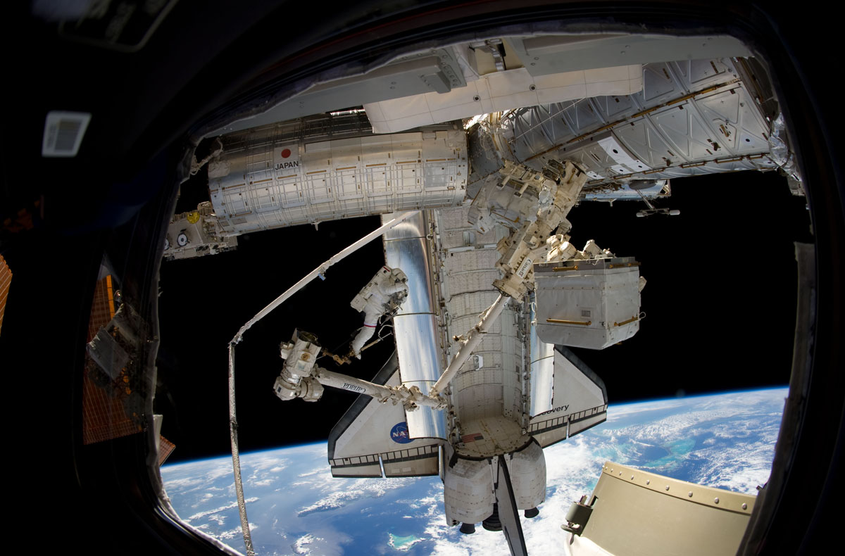 Riding a Robot Arm in Space