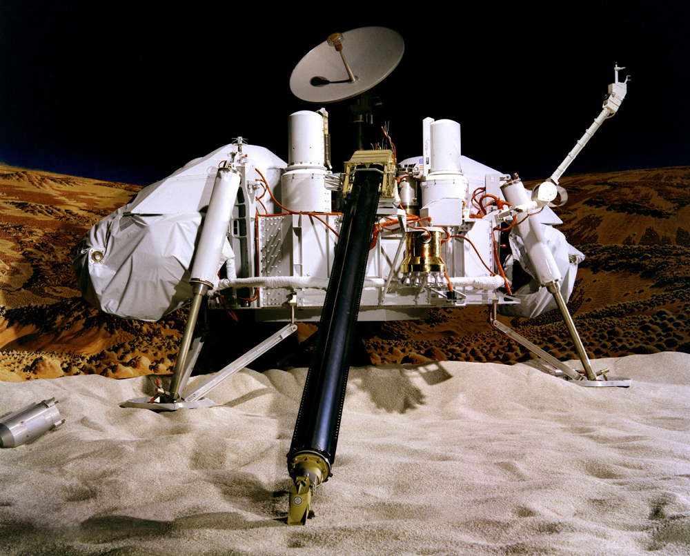 A model of the Viking Lander.