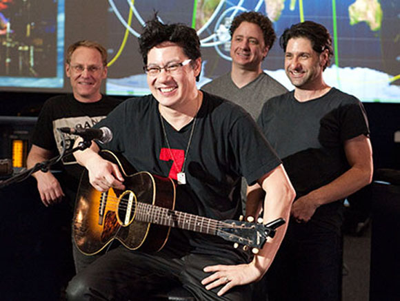 Rock Band Serenades Discovery Astronauts With Out-of-This-World Music